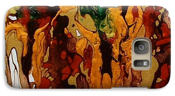 Galaxy Case featuring the painting Canyon Of Gold by Pat Purdy