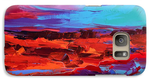 Galaxy Case featuring the painting Canyon At Dusk - Art By Elise Palmigiani by Elise Palmigiani