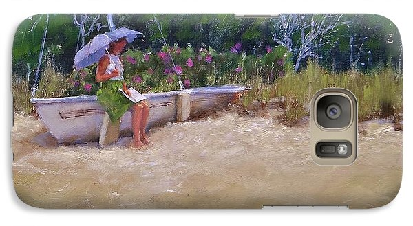 Galaxy Case featuring the painting Cape Cod Weekend by Laura Lee Zanghetti