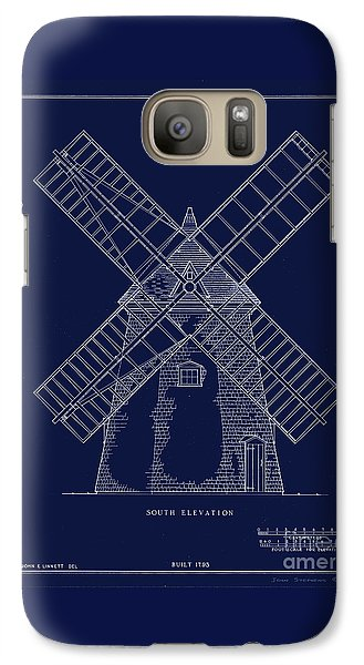 Galaxy Case featuring the photograph Historic Cape Cod Windmill Blueprint by John Stephens