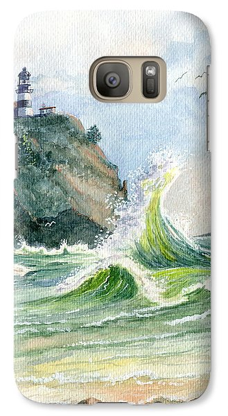 Galaxy Case featuring the painting Cape Disappointment Lighthouse by Marilyn Smith