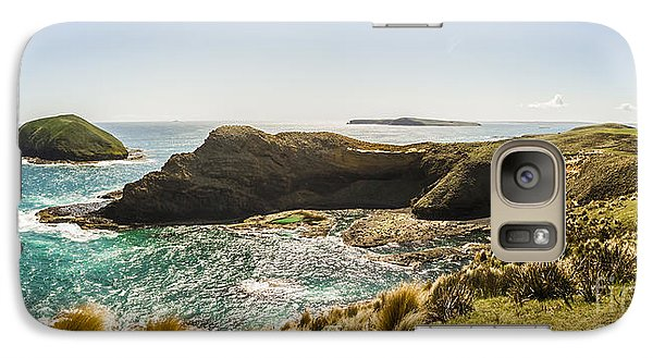 Cape Grim Cliff Panoramic Galaxy Case by Jorgo Photography - Wall Art Gallery