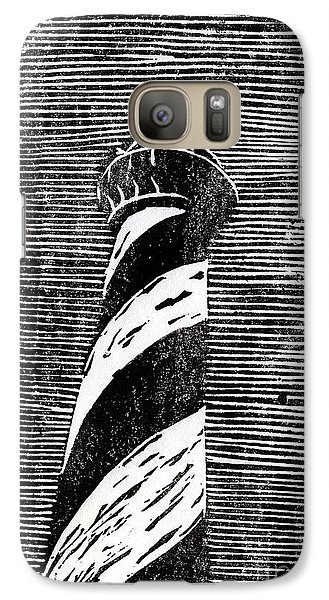 Galaxy Case featuring the painting Cape Hatteras Lighthouse II by Ryan Fox