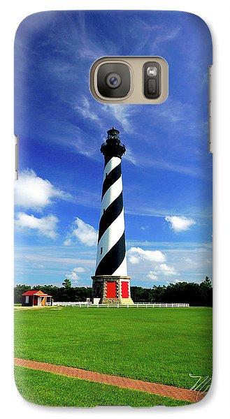 Galaxy Case featuring the photograph Cape Hatteras Lighthouse by Meta Gatschenberger