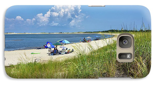 Galaxy Case featuring the photograph Cape Henlopen State Park - Beach Time by Brendan Reals