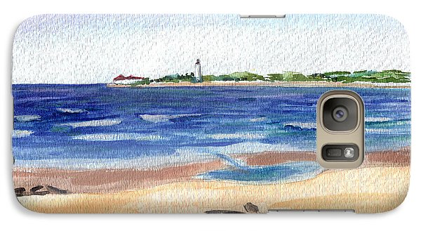 Galaxy Case featuring the painting Cape May Beach by Clara Sue Beym
