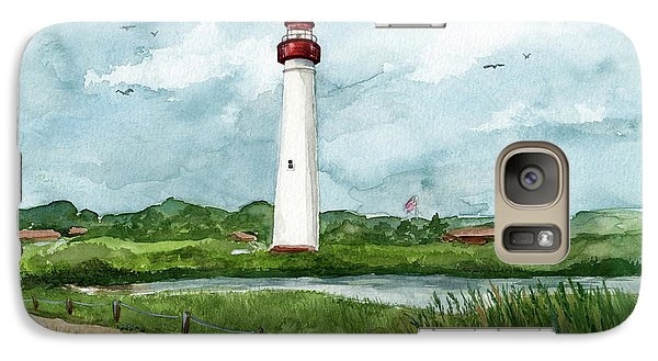 Galaxy Case featuring the painting Cape May Lighthouse by Nancy Patterson