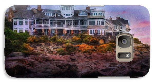 Galaxy Case featuring the photograph Cape Neddick Maine Scenic Vista by Shelley Neff