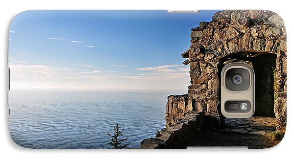 Galaxy Case featuring the photograph Cape Perpetua Stone Shelter by Lara Ellis