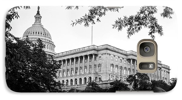 Galaxy Case featuring the photograph Capitol Lawn In Black And White by Greg Mimbs