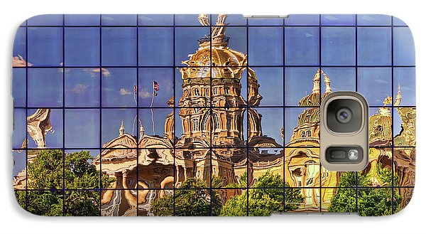 Galaxy Case featuring the photograph Capitol Reflection - Iowa by Nikolyn McDonald