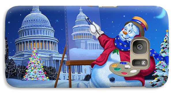 Galaxy Case featuring the painting Capitol Snoman by Michael Humphries
