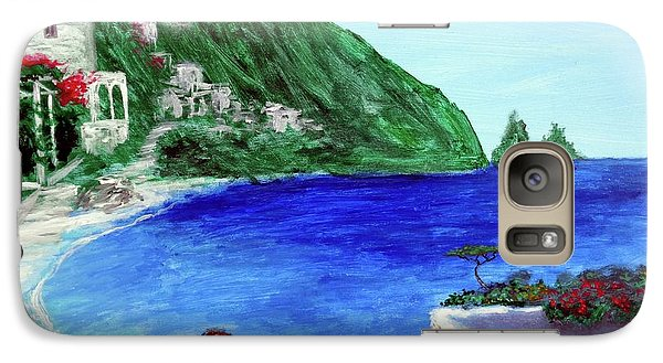 Galaxy Case featuring the painting  Capri by Larry Cirigliano