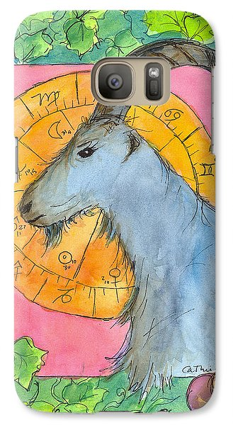 Galaxy Case featuring the painting Capricorn by Cathie Richardson