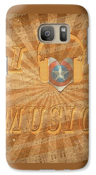Galaxy Case featuring the painting Captain America Lullaby Original Digital by Georgeta Blanaru