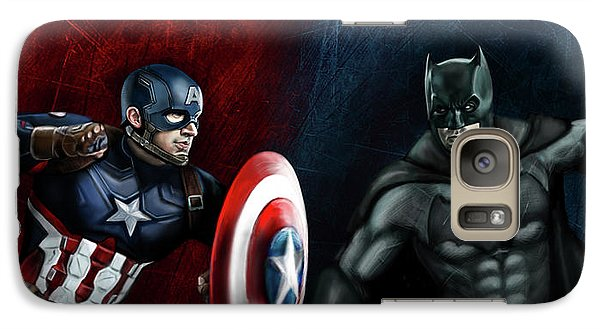 Captain America Vs Batman Galaxy S7 Case by Vinny John Usuriello