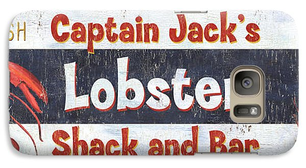 Catfish Galaxy S7 Case - Captain Jack's Lobster Shack by Debbie DeWitt