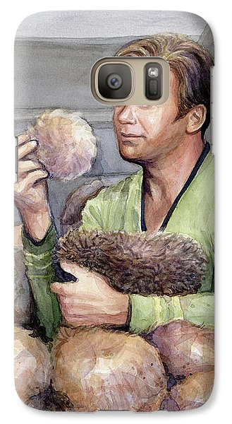 Science Fiction Galaxy S7 Case - Captain Kirk And Tribbles by Olga Shvartsur