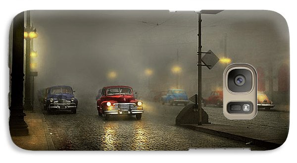 Galaxy Case featuring the photograph Car - Down A Lonely Road 1940 by Mike Savad