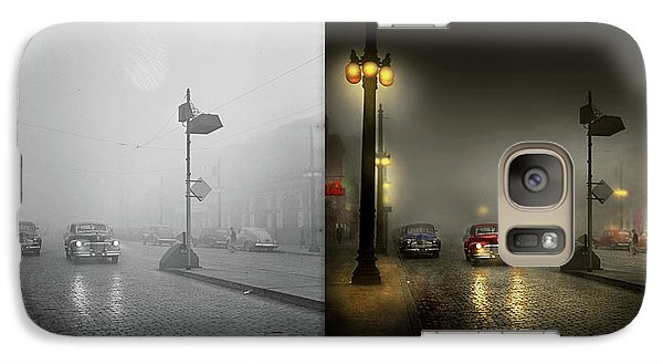 Galaxy Case featuring the photograph Car - Down A Lonely Road 1940 - Side By Side by Mike Savad