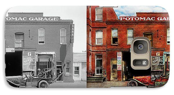 Galaxy Case featuring the photograph Car - Garage - Misfit Garage 1922 - Side By Side by Mike Savad