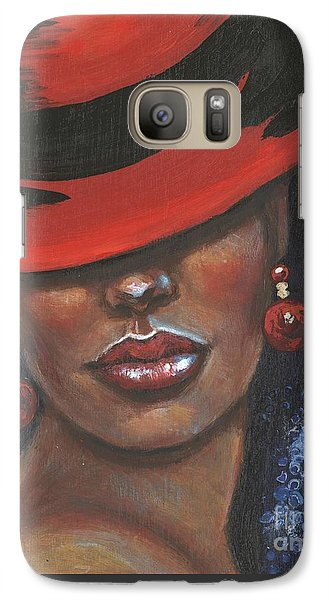 Galaxy Case featuring the painting Carbaret Red by Alga Washington