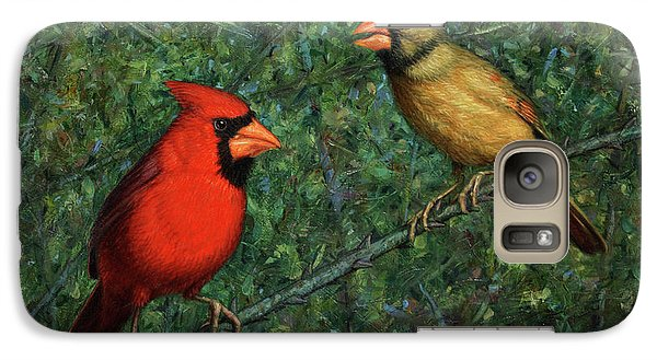Cardinal Couple Galaxy Case by James W Johnson