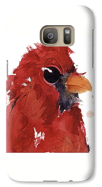 Galaxy Case featuring the painting Cardinal by Dawn Derman