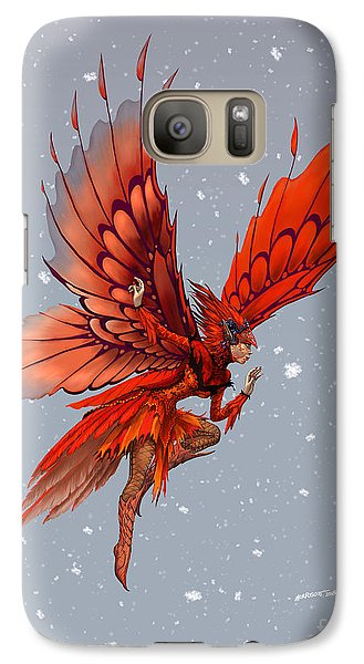 Galaxy Case featuring the digital art Cardinal Fairy by Stanley Morrison