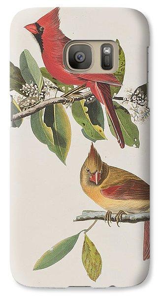 Cardinal Grosbeak Galaxy S7 Case by John James Audubon