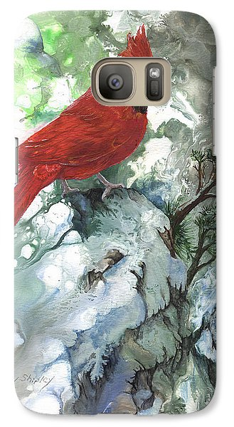 Galaxy Case featuring the painting Cardinal by Sherry Shipley