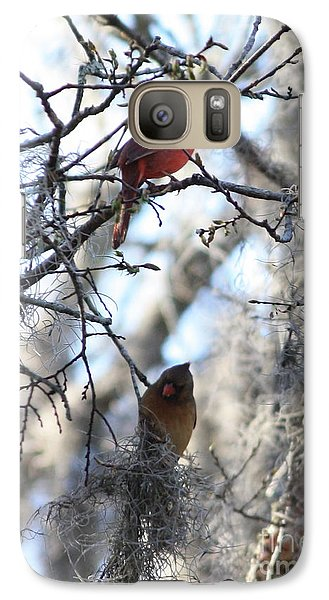 Cardinals In Mossy Tree Galaxy S7 Case
