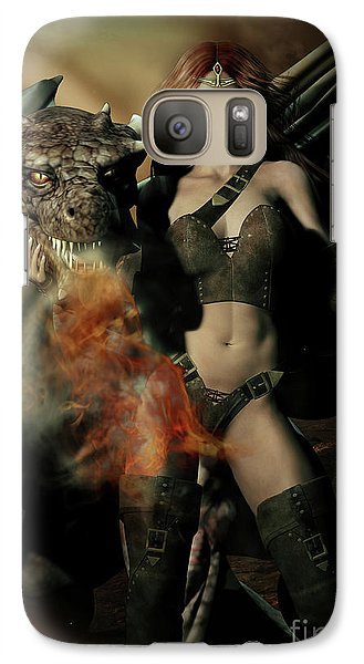 Careful He Burns Galaxy Case by Shanina Conway