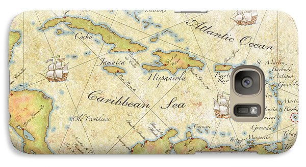 Galaxy Case featuring the digital art Caribbean Map II by Unknown