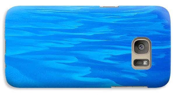 Galaxy Case featuring the photograph Caribbean Ocean Abstract by Jetson Nguyen