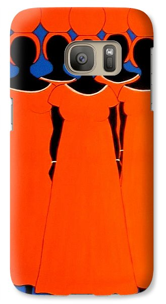Galaxy Case featuring the painting Caribbean Orange by Stephanie Moore