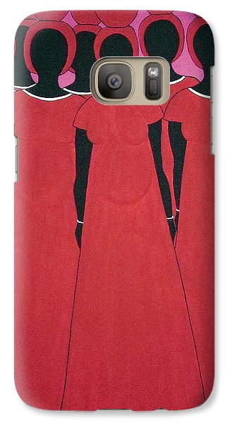 Galaxy Case featuring the painting Caribbean Pink by Stephanie Moore
