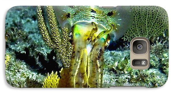 Galaxy Case featuring the photograph Caribbean Squid At Night - Alien Of The Deep by Amy McDaniel