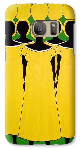 Galaxy Case featuring the painting Caribbean Yellow by Stephanie Moore
