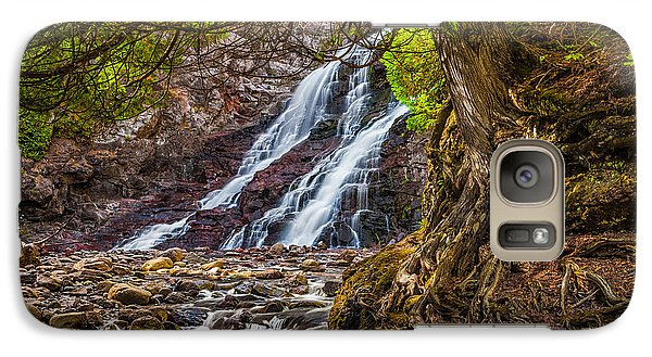 Galaxy S7 Case featuring the photograph Caribou Falls In Fall by Rikk Flohr