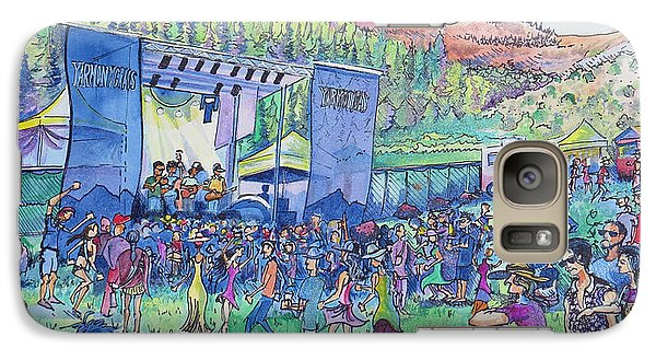 Galaxy Case featuring the painting Caribou Mountain Collective At Yarmonygrass by David Sockrider