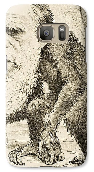 Caricature Of Charles Darwin Galaxy S7 Case