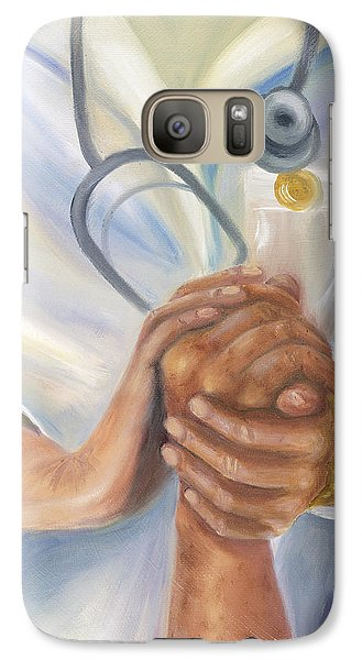 Galaxy Case featuring the painting Caring A Tradition Of Nursing by Marlyn Boyd