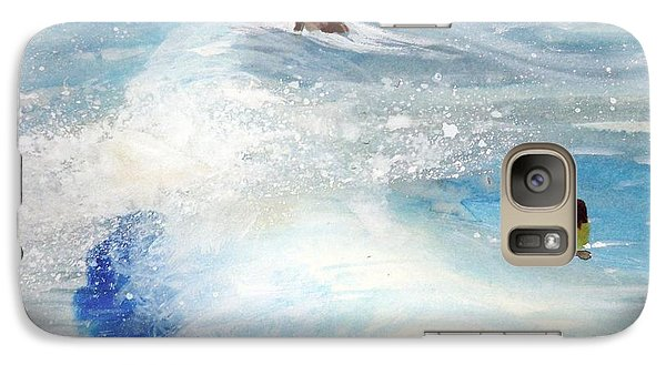 Galaxy Case featuring the painting Carmel By The Sea by Ed  Heaton