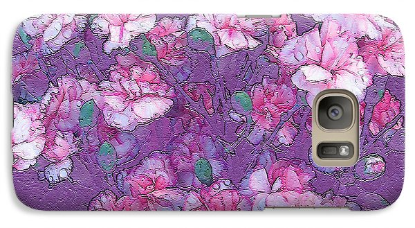 Galaxy Case featuring the digital art Carnation Inspired Art by Barbara Tristan