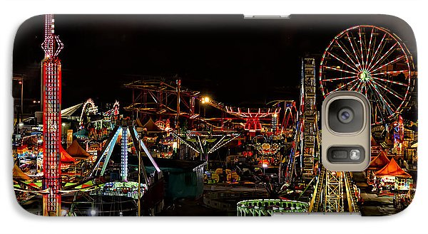 Galaxy Case featuring the photograph Carnival Midway by Linda Constant