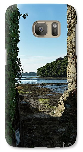 Galaxy Case featuring the photograph Photographs Of Cornwall Carnon Mine Window by Brian Roscorla