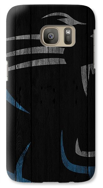 Caroilina Panthers Wood Fence Galaxy Case by Joe Hamilton