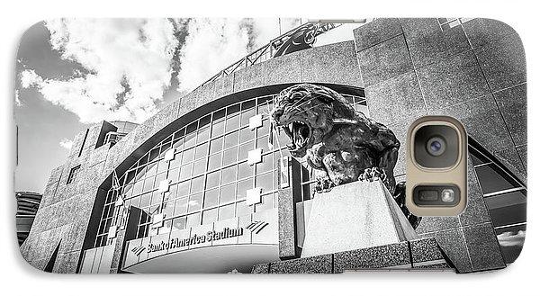 Carolina Panthers Stadium Black And White Photo Galaxy S7 Case by Paul Velgos