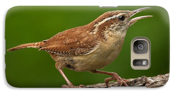 Galaxy Case featuring the photograph Carolina Wren by Jim Moore